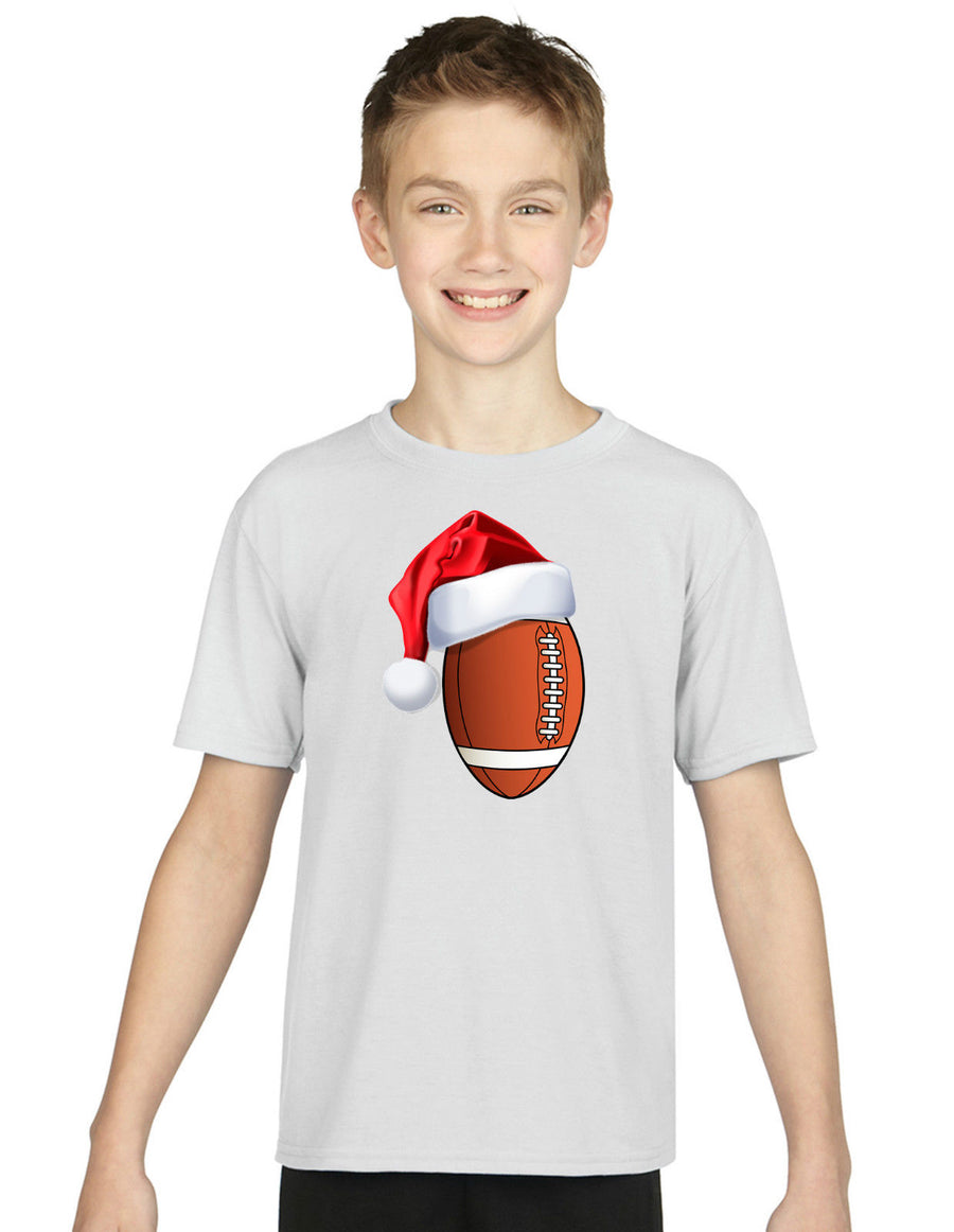 Children's American Football Christmas T Shirt Hat Santa Present Gift Novelty
