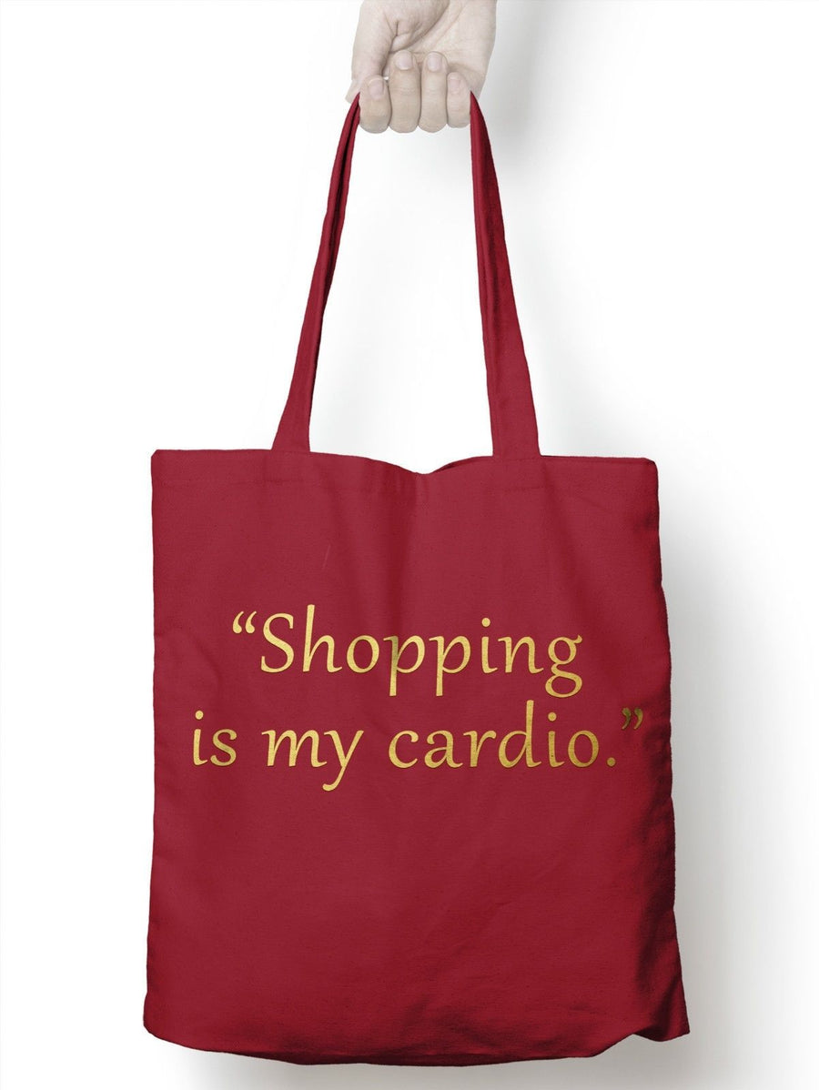 Shopping is my Cardio Vlogger Funny Shopper Tote Shopping Bag for Life Blog E04
