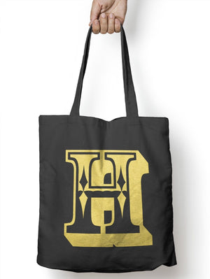 H Rose Letter Tote Bag Personalised Novelty Gift Gold Bag For Life Womens Shop