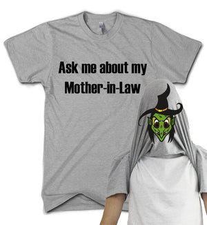 Mother In Law Flip T Shirt Witch Marriage Family Present Comedy Gift Funny, Main Colour Sport Grey