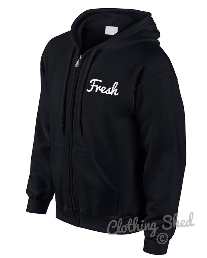 Fresh Zipped Hoody School Hoodie Hipster Gift  Mens Street Swag Womens