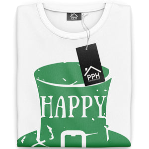 Happ St Patricks Day T Shirt Moustache Hipster Irish Ireland T-Shirt Gift P31