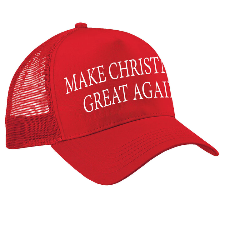 Make CHRISTMAS Great Again TRUCKER Cap Funny Donald Trump Hat America President