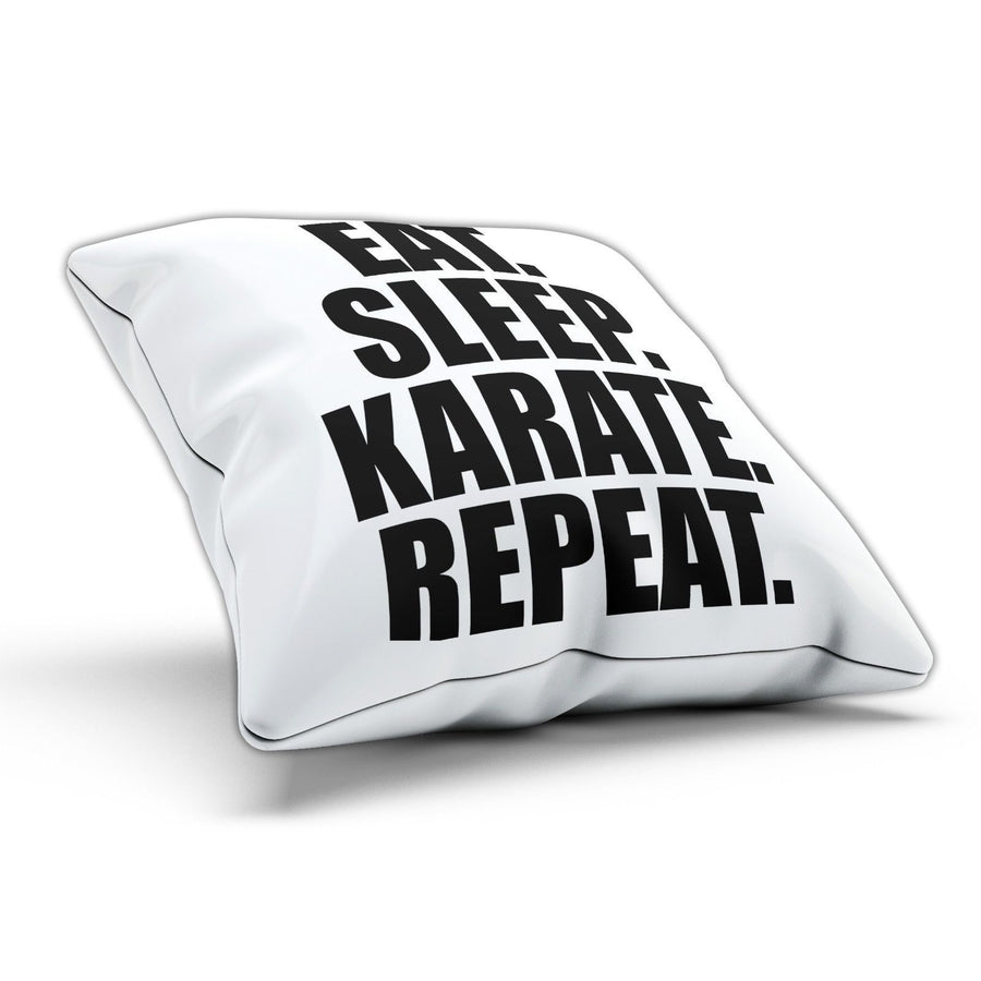 Eat Sleep Karate Pillow Cushion Pad Cover Case Bed Self Defence Martial Arts