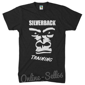 Silverback Training T Shirt Mens Gym Gorilla Funny Train Muscle Top , Main Colour Black