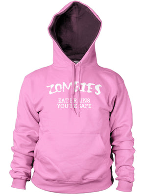 Zombies Eat Brains Your OK Funny Mens Dead Hoody Sweat Walking Hoodie Womens Top