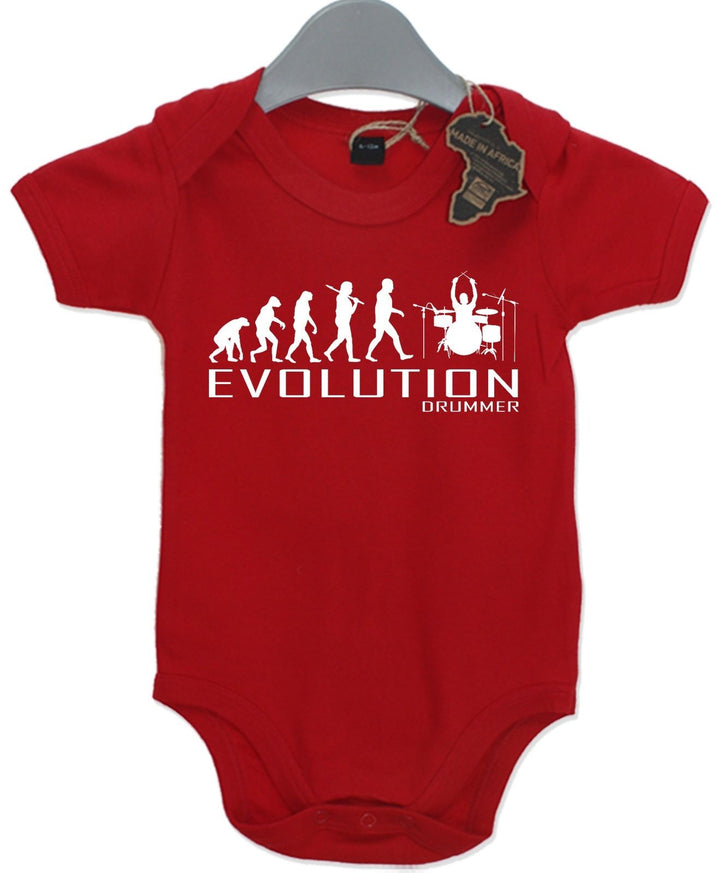 Evolution Drummer Baby Grow Unisex Babies Playsuit Band Music Baby