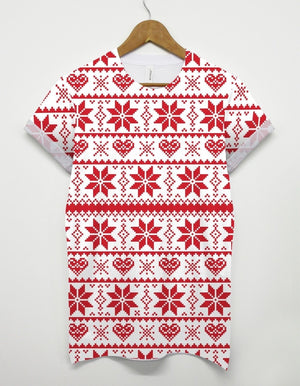 Snowflake Pattern All Over T Shirt Inct Apparel Christmas Present Gift Fashion
