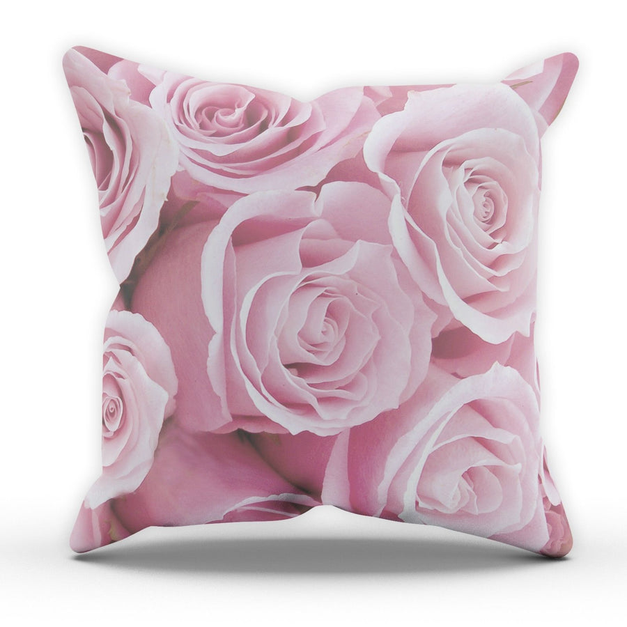 Pink Roses All Over Cushion Pillow Design Home House Room Girl Sofa Furnishing