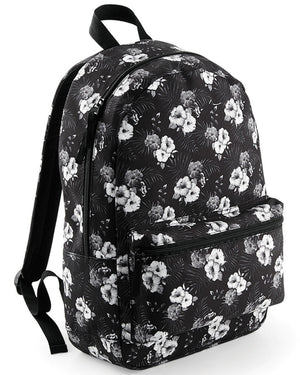 Mono Hawaiian Backpack Bag School Kids Men Boy Hipster Grunge Punk Streetwear