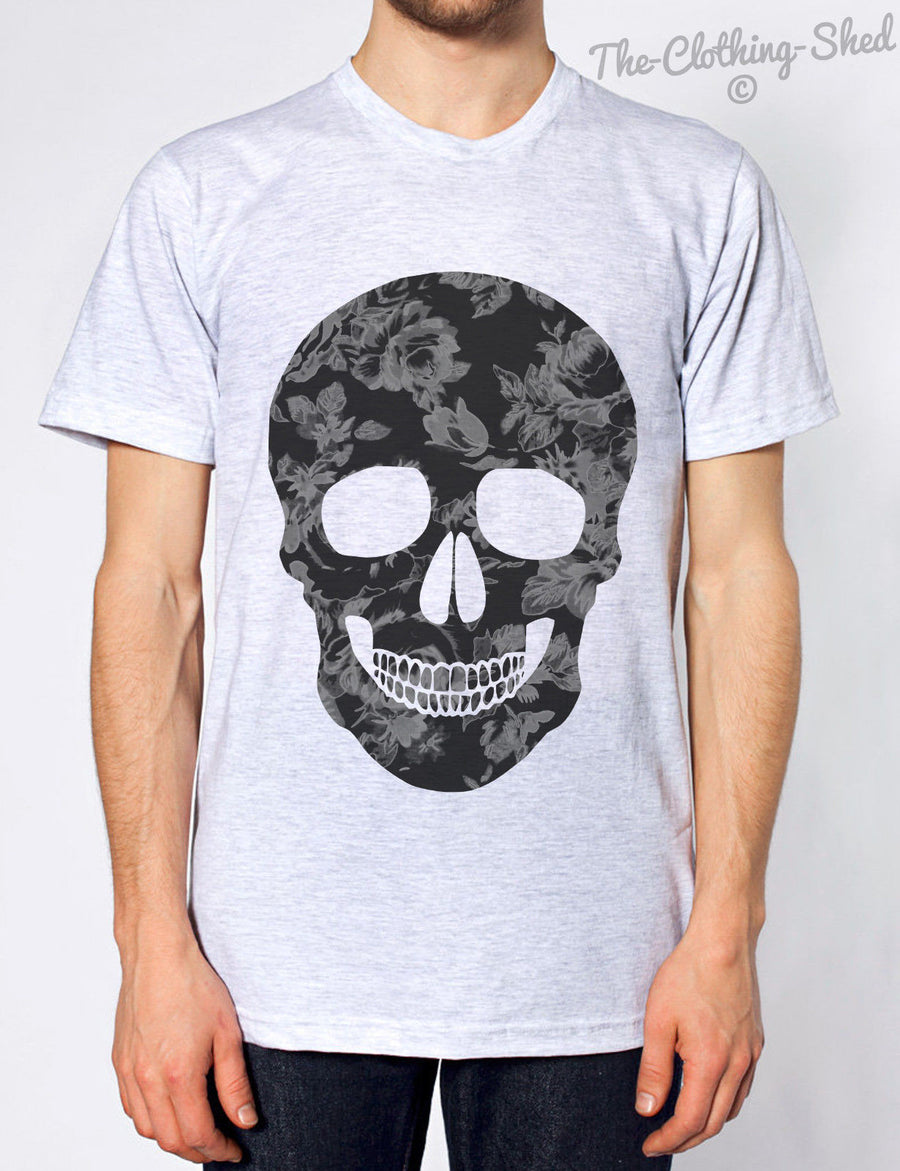 DARK FLORAL SKULL ROSE TSHIRT MENS WOMENS KIDS FRESH EMO TEE HIPSTER SWAG