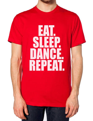 EAT SLEEP DANCE SLOGAN T SHIRT TOP GIFT STREET MEN WOMEN KIDS GIRL DANCER TSHIRT, Main Colour Black