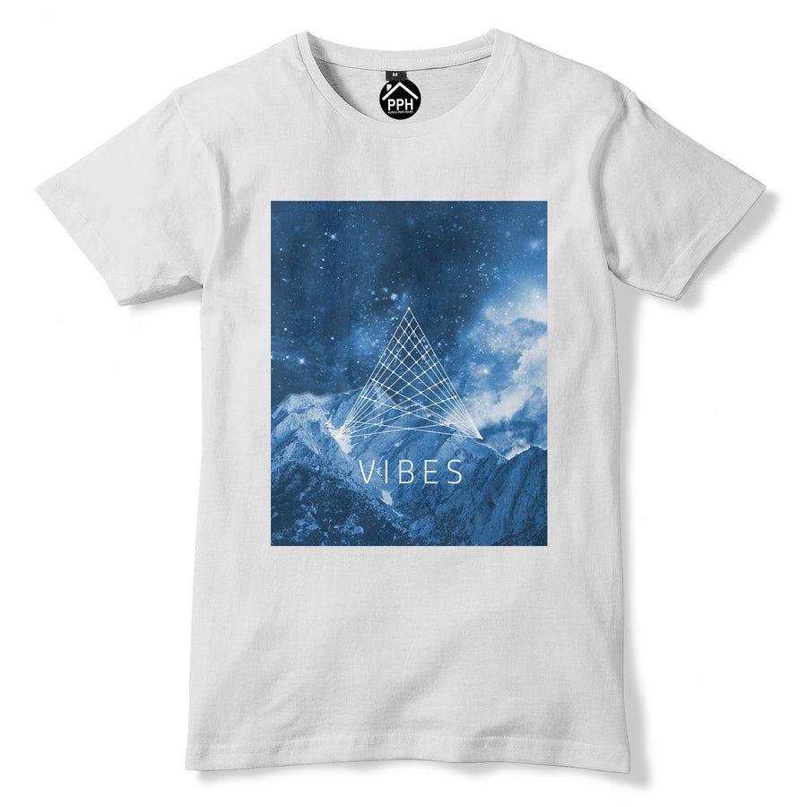 Mountain Vibes Sacred Geometry T Shirt Space Galaxy Tshirt Ski Climb Shape 167