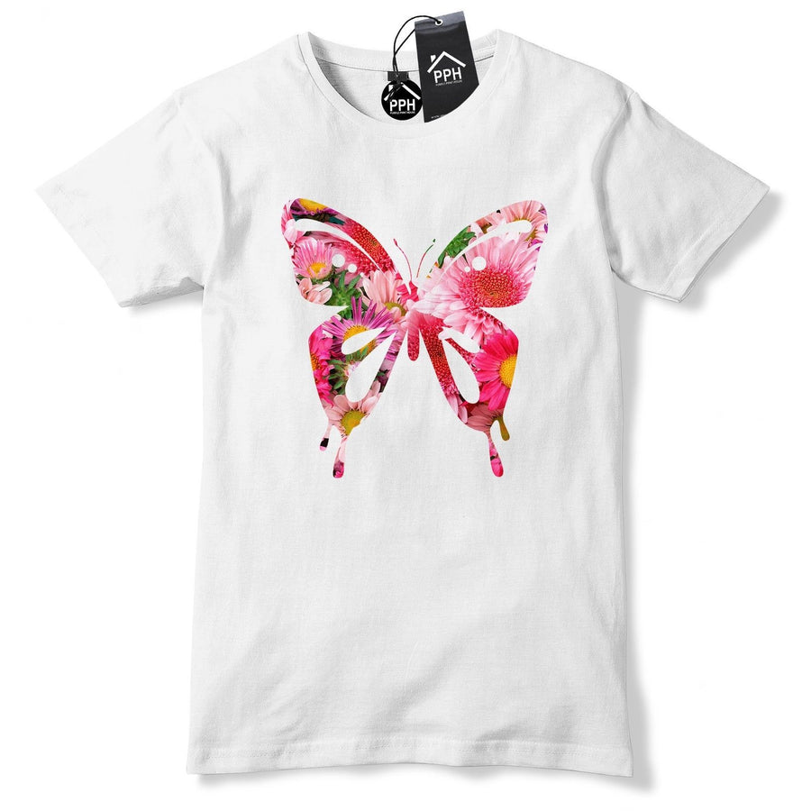 Floral Butterfly Tshirt Womens Top Flowers Insect Princess T Shirt Gift 448