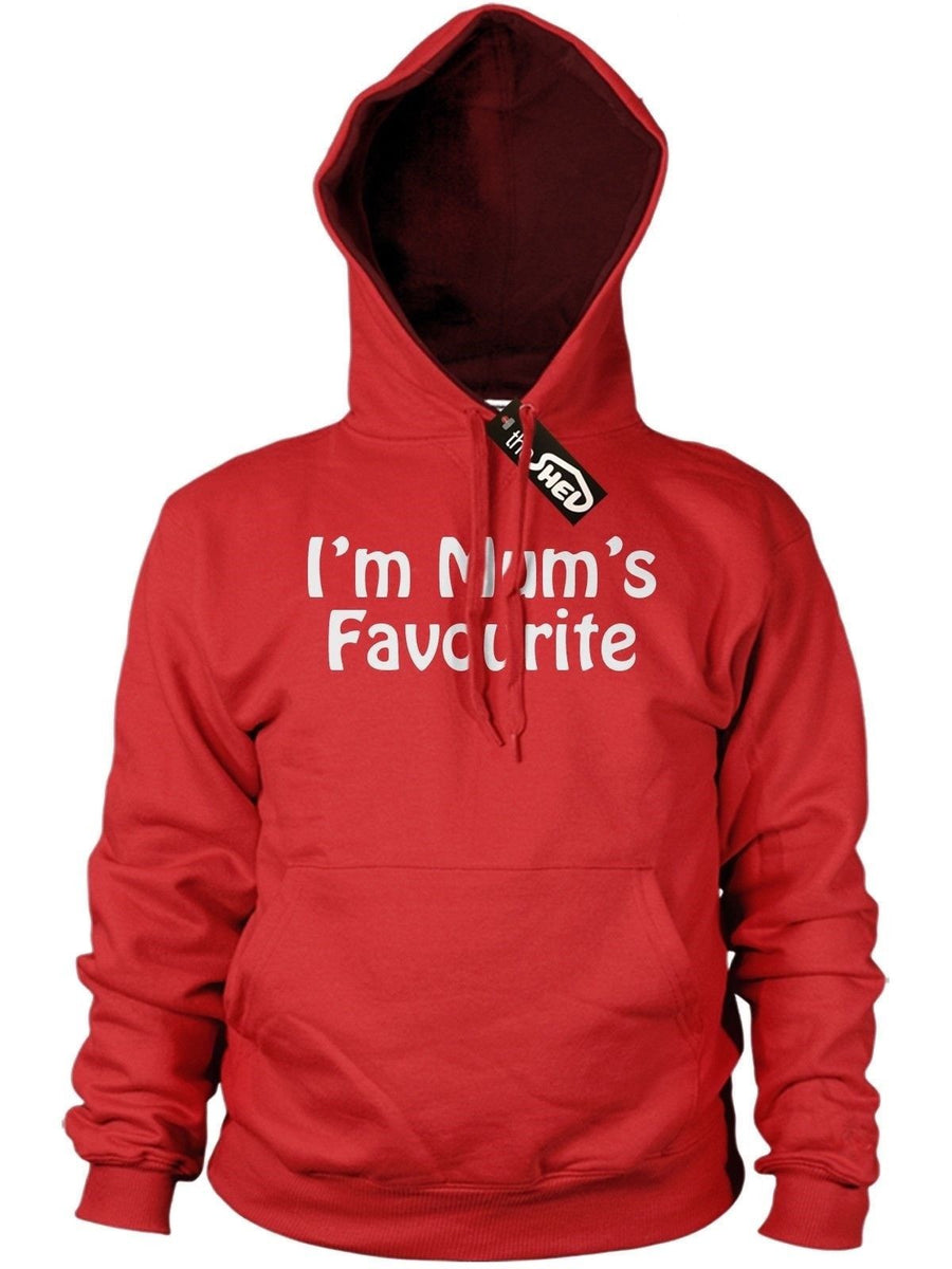 Im Mums Favourite Funny Boys Girls Rude Hoodie Novelty Offensive Birthday Hoody