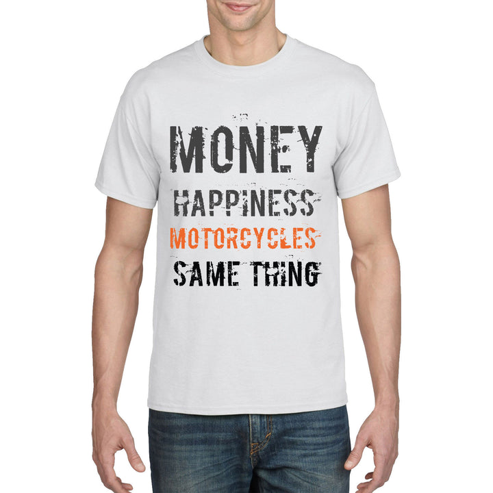 Motorcycle T Shirt Money Happiness Motorcycles Funny Birthday Gift Biker Dad 880