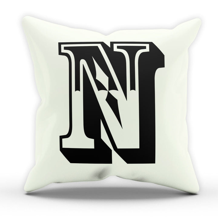 N Rose Letter Cushion Pillow Personalised Gift Present Birthday New Home Furnish