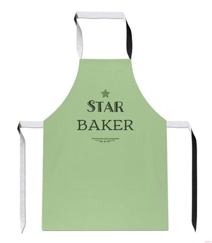 Star Bake Great GREEN Bake Off Baking Cook Food British APRON Kitchen Tabard A4