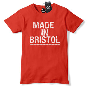 Made In Bristol T Shirt Retro Hometown Tshirt Top City Town Football top tee 634