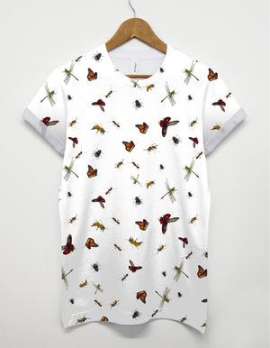Insect All Over T Shirt Summer Festival Swag Mens Women Tumblr Butterfly Hipster