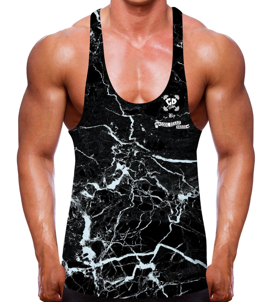 Dark Mineral Get Down by Cool Beard Bro Co Stringer Vest Pattern Bodybuilding