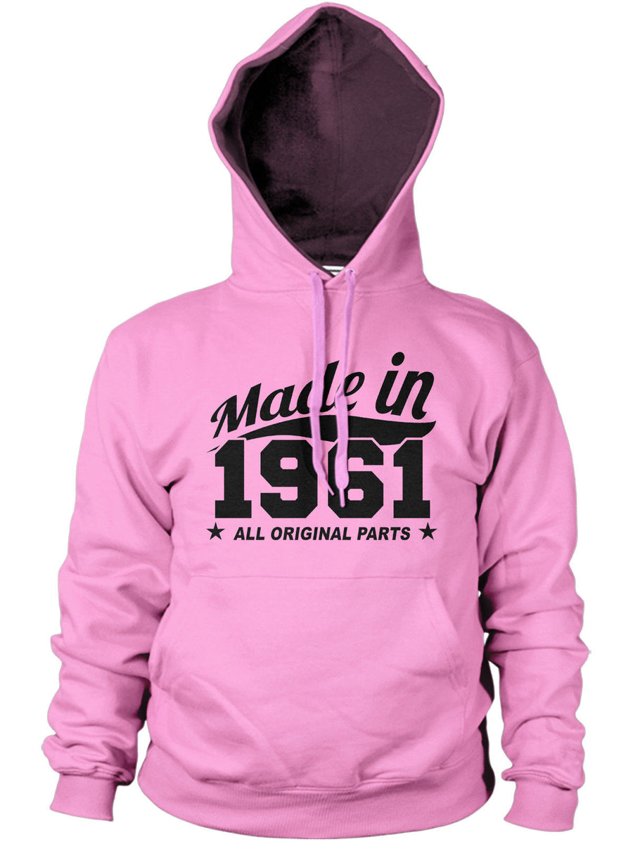 MADE IN 1961 ALL ORIGINAL PARTS HOODIE MENS WOMENS FUNNY BIRTHDAY PRESENT GIFT