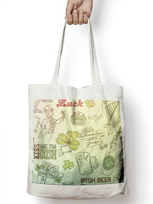 Irish Collage Ireland Tote Shopper Bag For Life Shopping Patricks Day E69