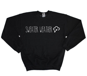 Sweater Weather Sweater Hoodie Pull Over Jumper Sweat Shirt Music Artist Hipster