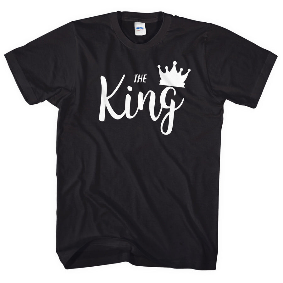 The King His Queen T-Shirt Cute Couple Tshirts Valentines Day Boyfriend L175