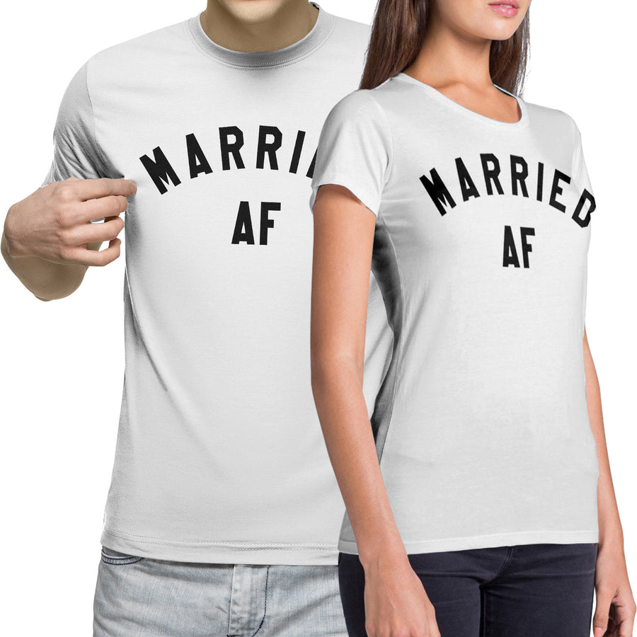 Married AF Funny Wedding T Shirts bachelorette Party hen stag Honeymoon Couples