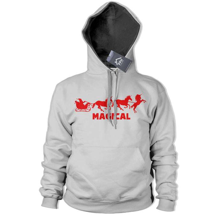Magical Unicorn Santa Reindeer Hoodie Funny Tee Christmas Sweatshirt Magic CH38