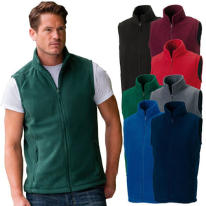 Russell Mens Outdoor Fleece Gilet Hiking Sport Walking Fishing Jacket Zip Coat