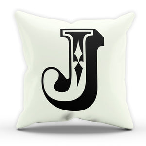 J Rose Letter Cushion Pillow Personalised Home Gift Present Birthday New Home