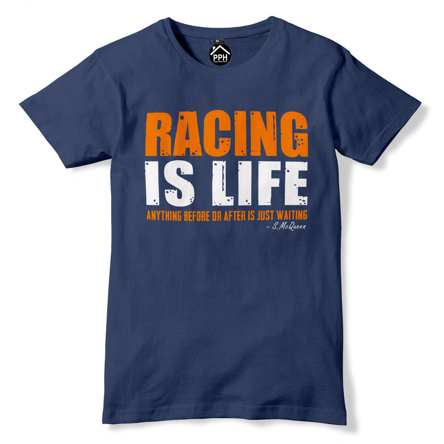 Racing Is Life T shirt Quote Steve McQueen Inspired Le Mans Great Escape 331