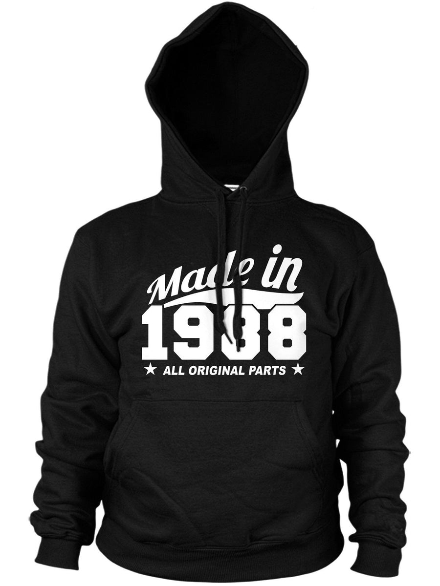 MADE IN 1988 ALL ORIGINAL PARTS HOODIE MENS WOMENS FUNNY PRESENT 80'S BIRTHDAY