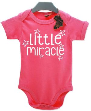 Little Miracle Babygrow Baby Clothing Wear Cute Special Shower Present EBG23