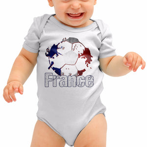 France Football Shirt Francais Baby Grow Romper Suit Babygrow Top Newborn B40