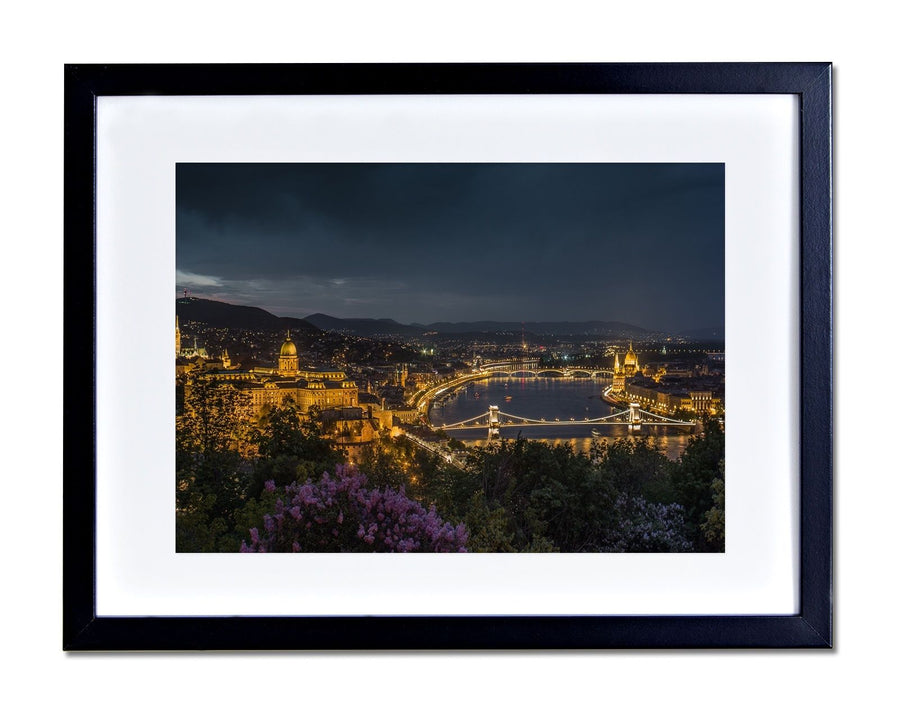 Budapest Hungary Picture Skyline Poster Print FRAME MOUNTED Home Decor 173