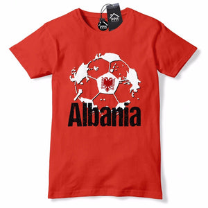 Albania Football Shirt Shqiponjat Red Black T Shirt Albanian Jersey Top Mens B40
