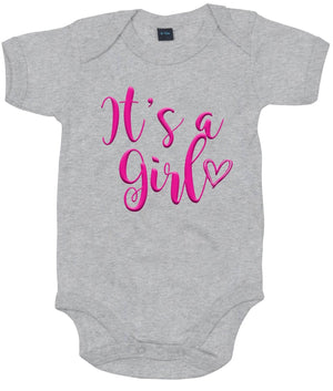 It's A Girl Baby Grow Baby Announcement Arrival Little Sister Gender Reveal AS17