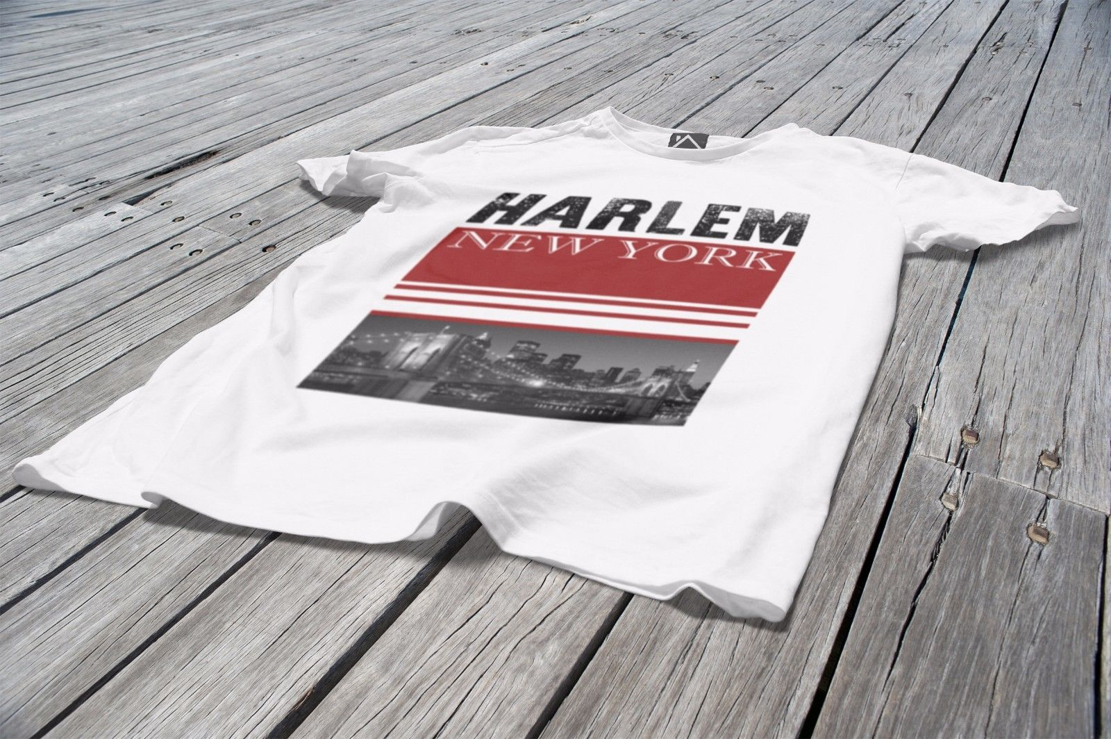 Harlem New York Mens T Shirt America State Fashion Street Swag Dope ... b8b093d9aac