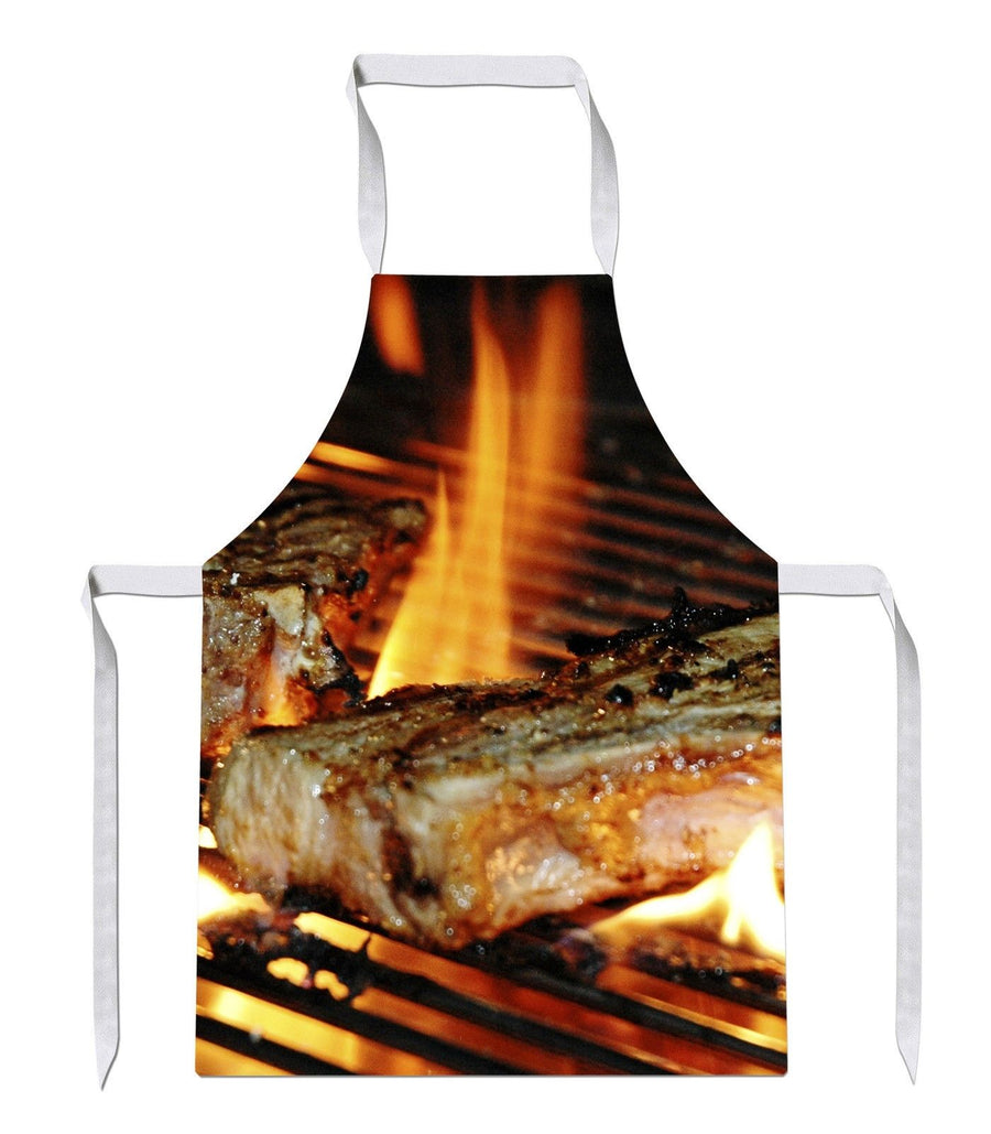 BBQ Steaks Mens All Over Baking Novelty Funny Bake Cook APRON Kitchen Tabard 56