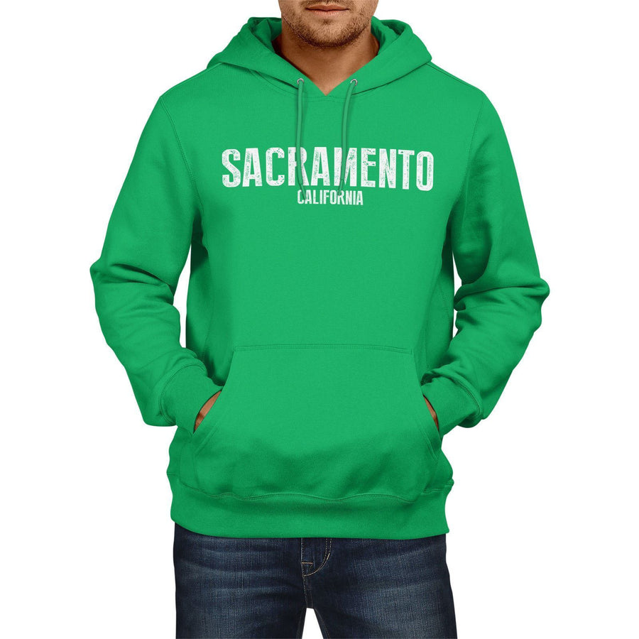 Sacramento California SLOGAN Mens US HOODIE America Football Hoody Sweatshirt