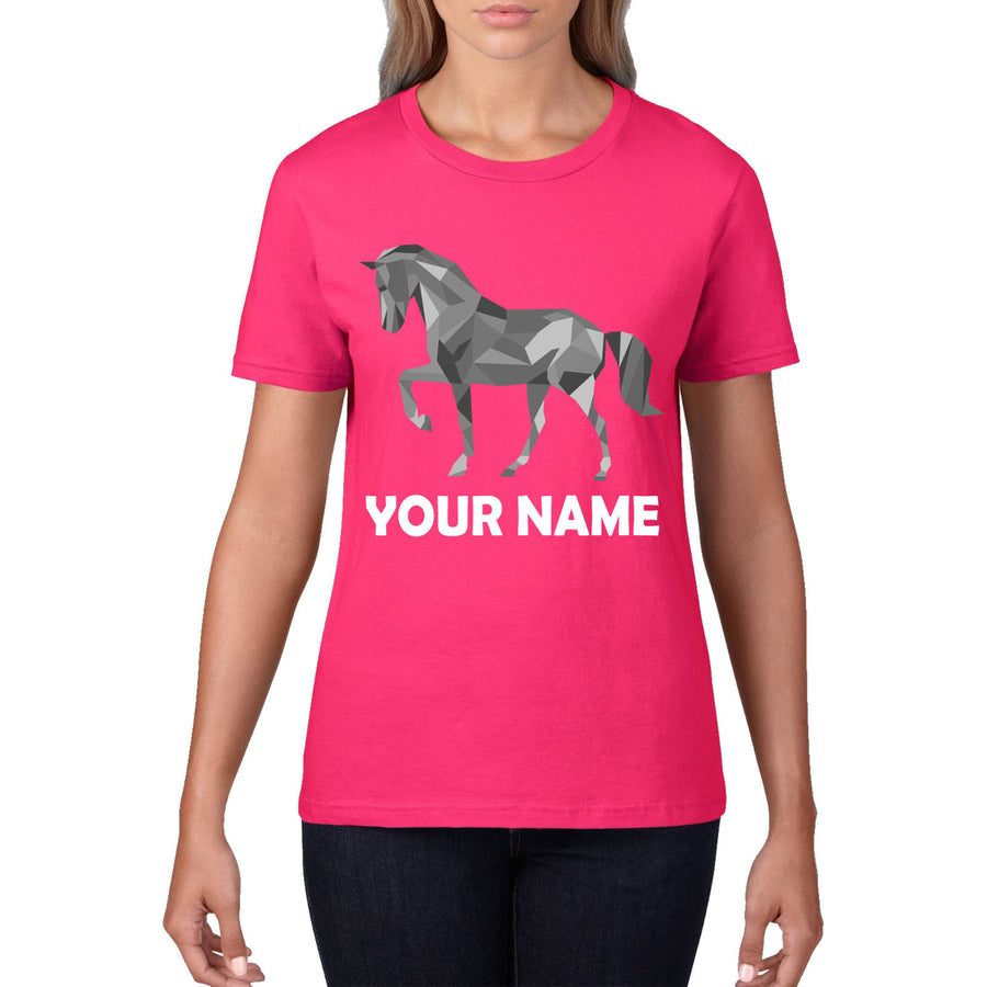 Personalised Show Jumping T Shirt Horse Riding Womens Kids Tshirt Top Tee 758