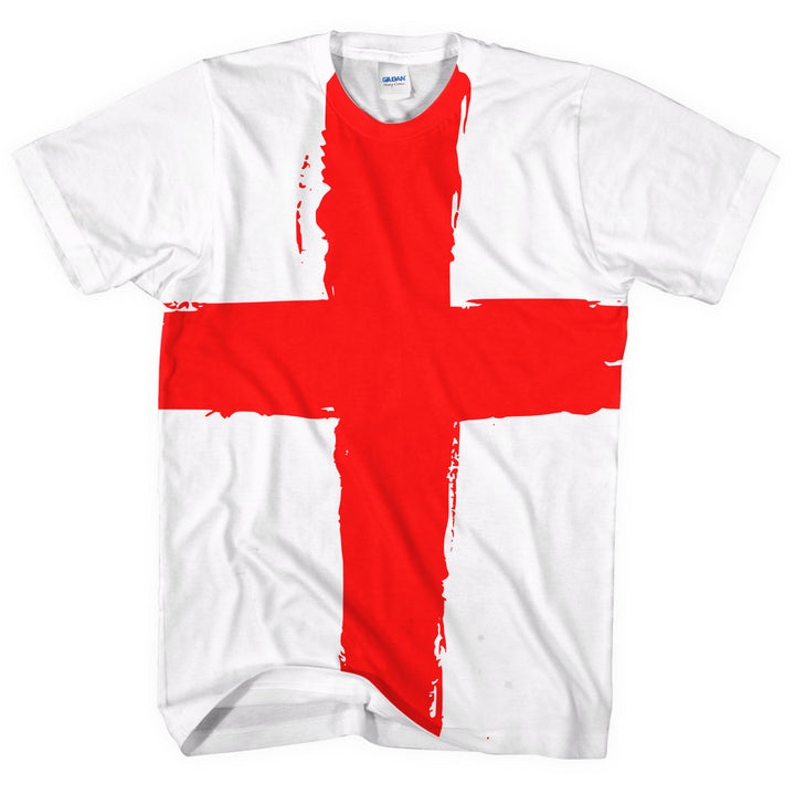 England Flag All Over T-Shirt St Georges Day Patriotic English Red Cross L261