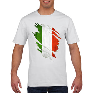 Italy T Shirt Azzurri TORN Rugby 6 Nations Tshirt Football Mens Womens Boys 850