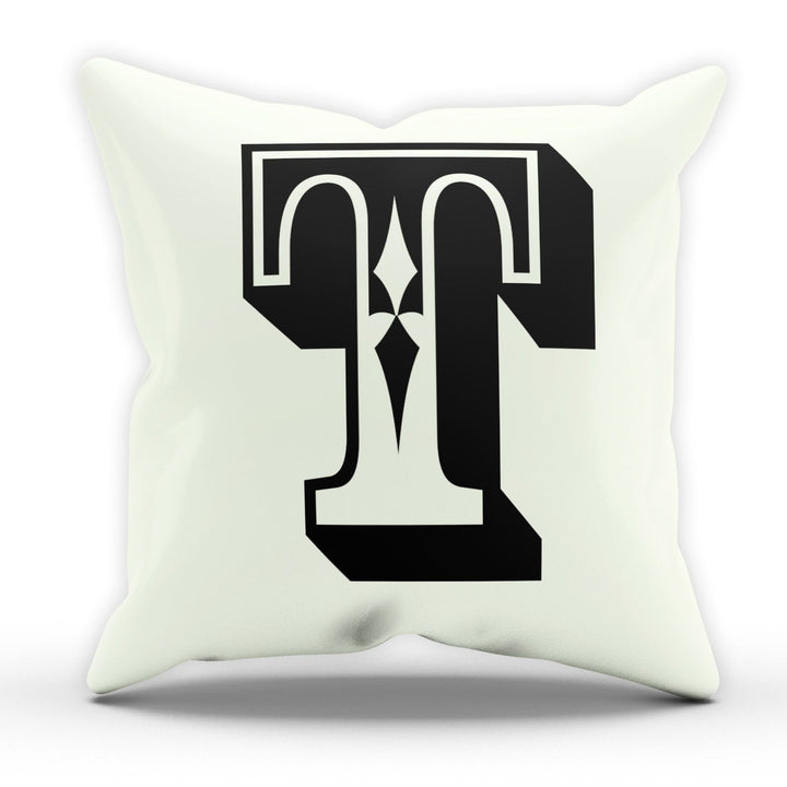 T Rose Letter Cushion Pillow Personalised Gift Present Birthday New Home Furnish