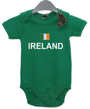 Ireland Gift Baby Grow Birthday Present Unisex BabyGrow Playsuit Football Rugby