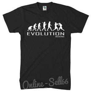 Boxing Club APE OF EVOLUTION Gym Train Gloves T SHIRT TSHIRT MENS WOMENS BOYS, Main Colour Black