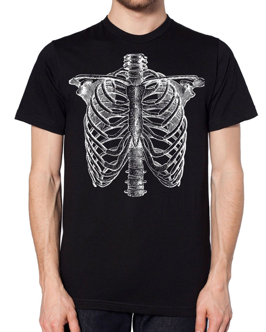 Detailed Skeleton Black Halloween T Shirt Candy Skull Cheap Costume Ideas Easy